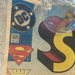 SUPERMAN LIVES 0CTOBER 1993 POSTER 20x14 MINT !!